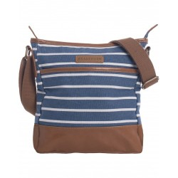 STRIPE CANVAS BUCKET BAG