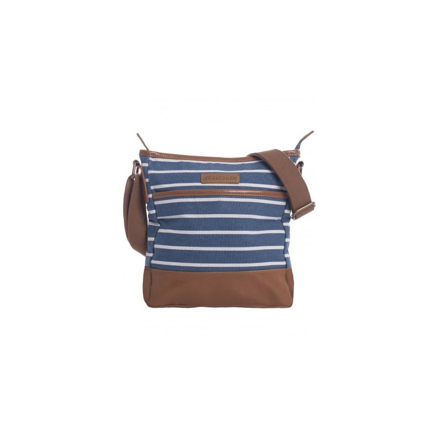 STRIPE CANVAS BUCKET BAG